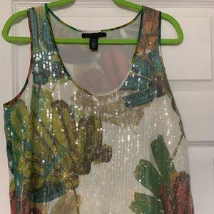 Kenneth Cole SZ Lg blouse NEW sparkle